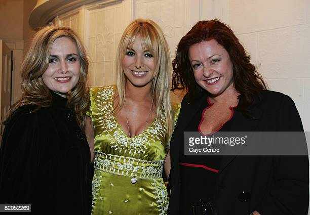 Manager Lisa Collins, Television personality Natalie Michaels and Shelley Horton, during the official launch of her Natalies new book `The Menagerie'...