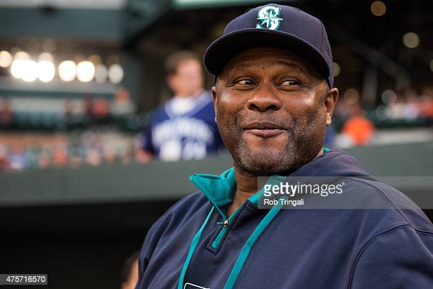 Manager Lloyd McClendon of the Seattle Mariners looks on during the game against the Baltimore Orioles at Oriole Park at Camden Yards on May 20 2015...