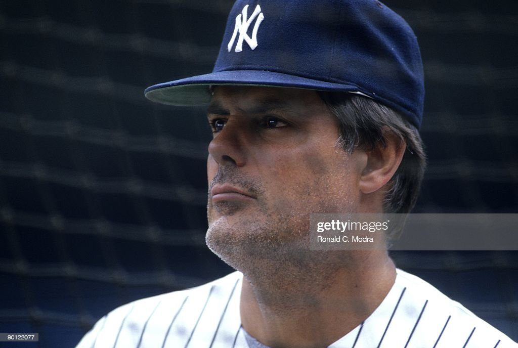 Manager Lou Pinella of the New York Yankees before a MLB game against the Toronto Blue Jays at Yankee Stadium on June 8, 1987 in the Bronx, New York.