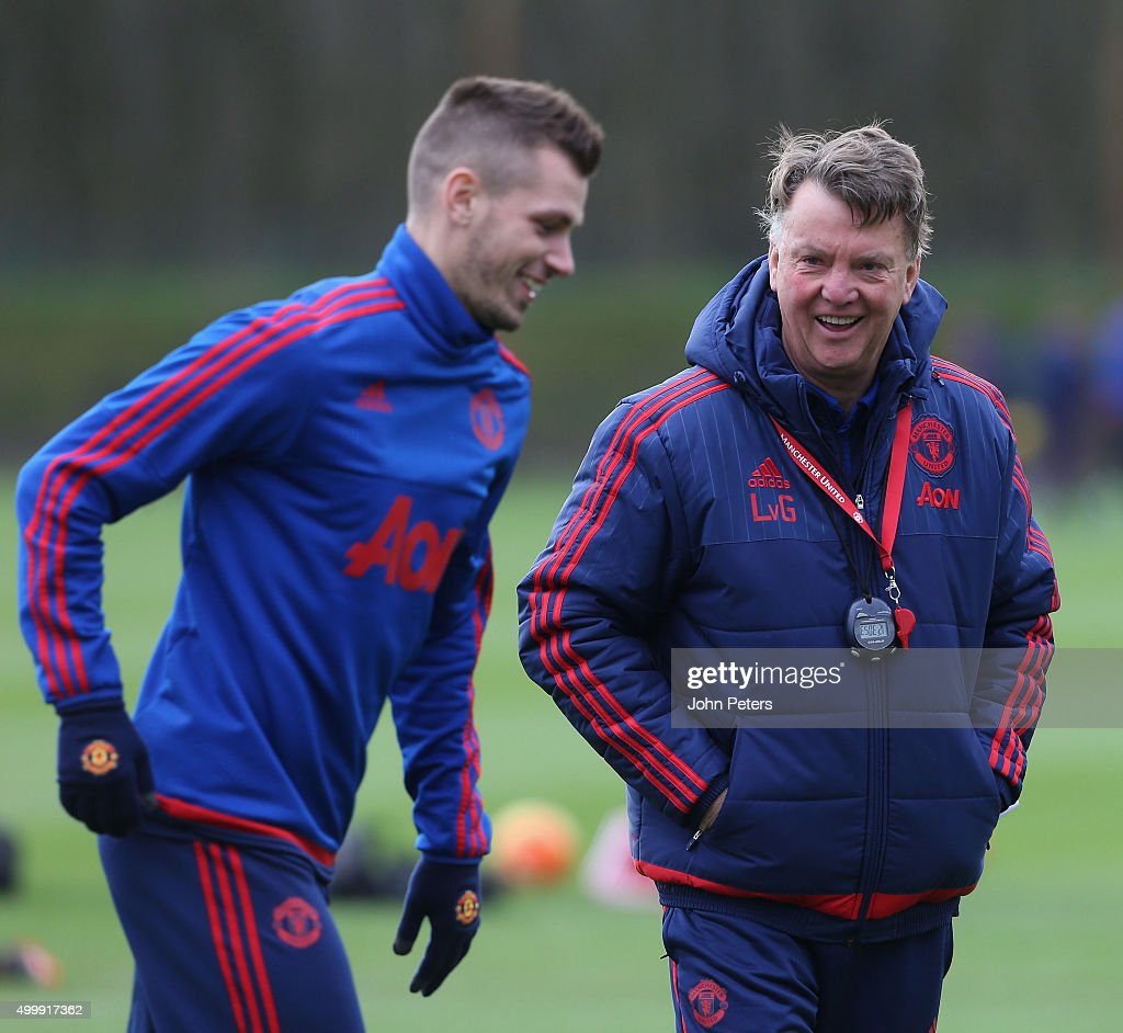 Manchester United Training and Press Conference : Nieuwsfoto's
