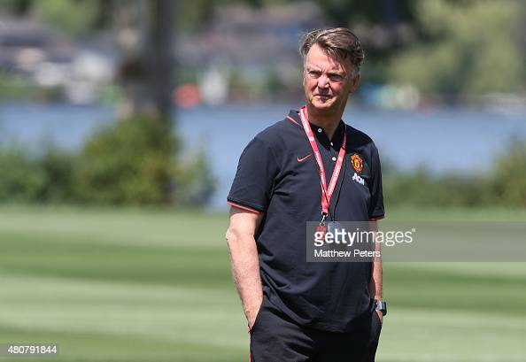 Manager Louis Van Gaal Of Manchester United In Action