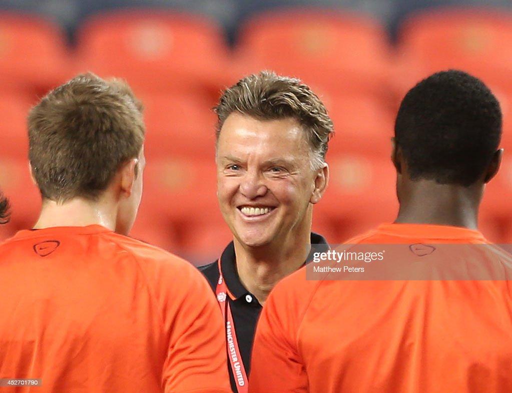 Manchester United Training In Denver : News Photo