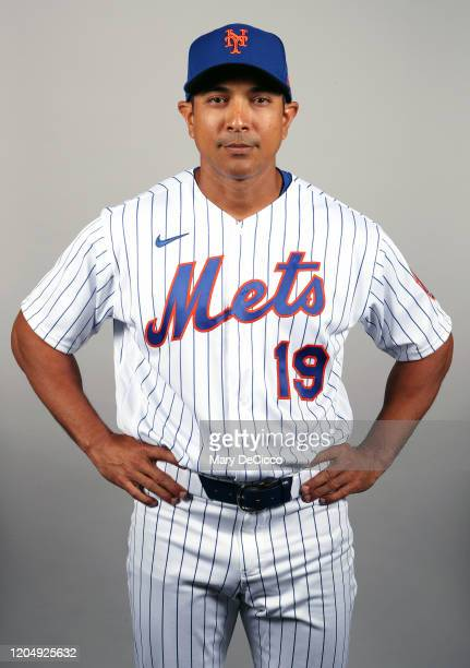 Manager Luis Rojas of the New York Mets poses during Photo Day on Thursday February 20 2019 at Clover Park in Port St Lucie Florida
