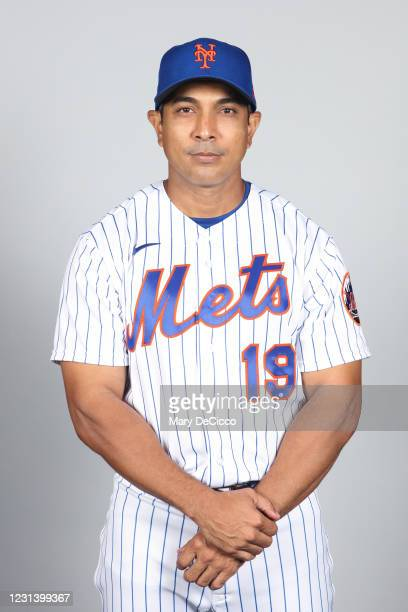 Manager Luis Rojas of the New York Mets poses during Photo Day on Thursday, February 25, 2021 at Clover Park in Port St. Lucie, Florida.