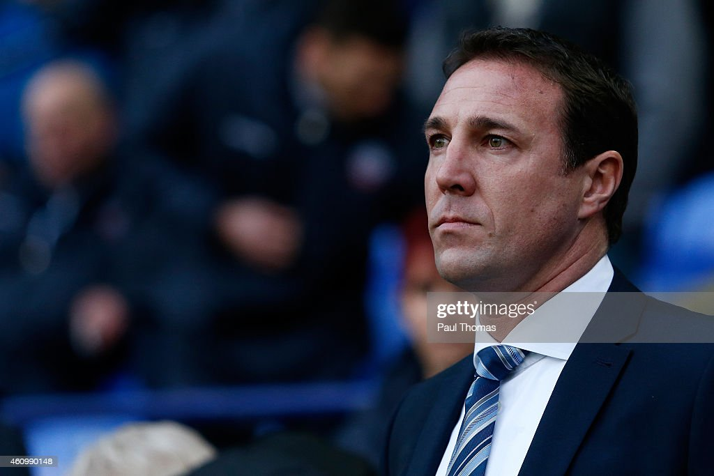 Manager Malky Mackay of Wigan watches on during the FA Cup Third Round match between Bolton Wanderers and Wigan Athletic at the Macron Stadium on January 3, 2015 in Bolton, England.