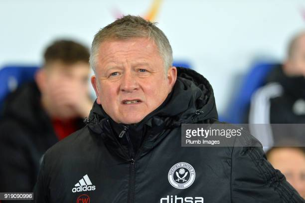 Manager Manager Chris Wilder of Sheffield United at King Power Stadium ahead of the FA Cup fifth round match between Leicester City and Sheffield...