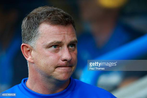 Manager Mark Robins of Huddersfield looks on during the Pre Season Friendly match between Huddersfield Town and Newcastle United at the John Smith's...