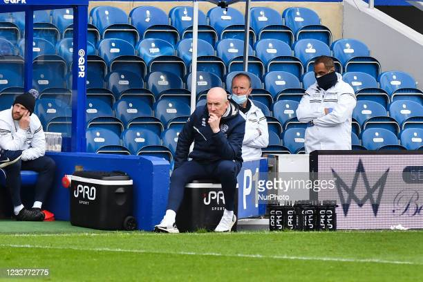 Manager Mark Warburton looks on during the Sky Bet Championship match between Queens Park Rangers and Luton Town at Loftus Road Stadium, London on...