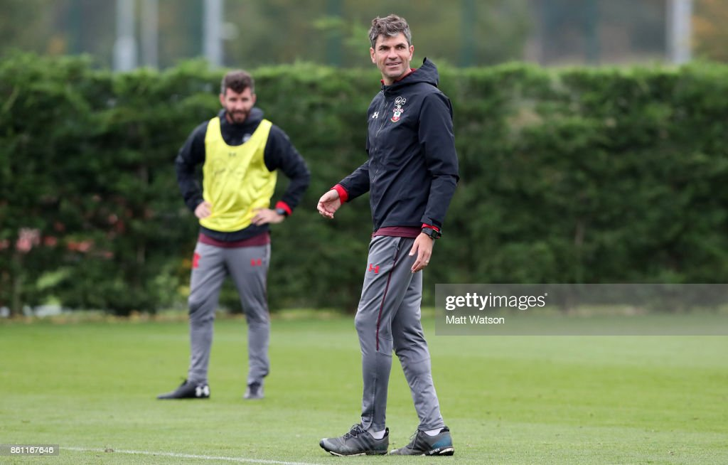 Manager Mauricio Pellegrino during a Southampton FC training session at the Staplewood Campus on October 13, 2017 in Southampton, England.