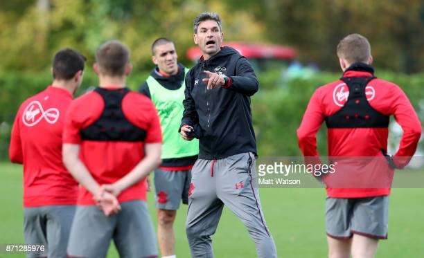 Manager Mauricio Pellegrino during a Southampton FC training session at the Staplewood Campus on November 7 2017 in Southampton England