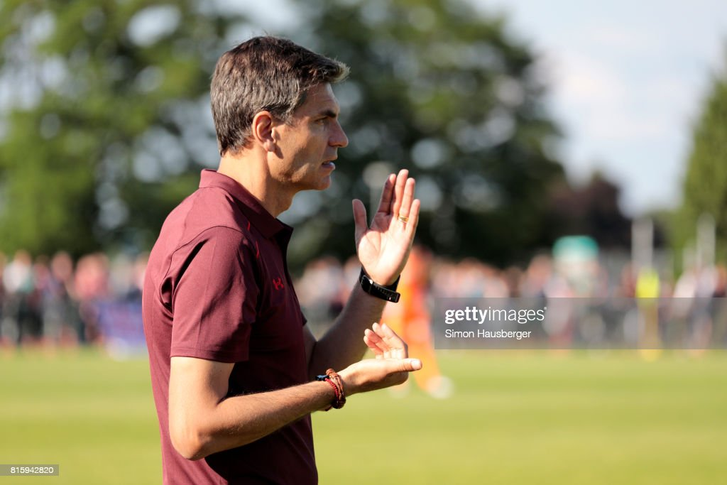 Manager Mauricio Pellegrino from FC Southampton during the pre-season friendly match between FC Southampton and St. Gallen at Sportanlage Kellen on July 15, 2017 in Goldach, Switzerland.