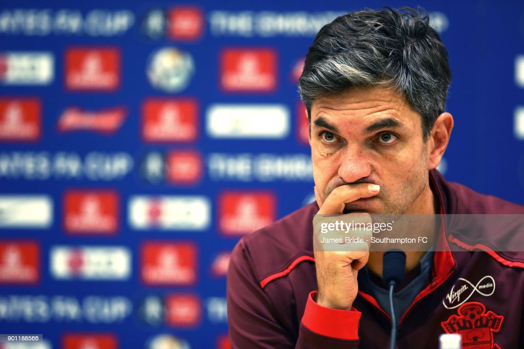 Manager Mauricio Pellegrino of Southampton FC attends a press conference at Staplewood Complex on January 4, 2018 in Southampton, England.