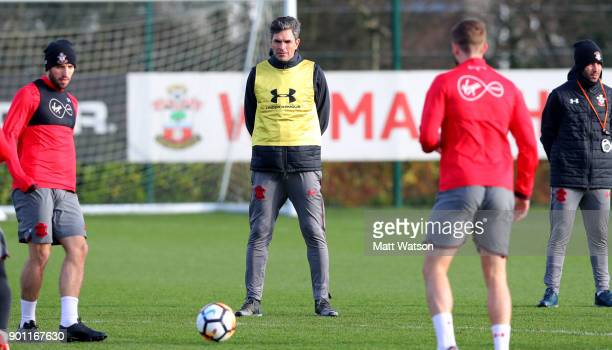 Manager Mauricio Pellegrino of Southampton FC during a training session at the Staplewood Campus on January 4 2018 in Southampton England