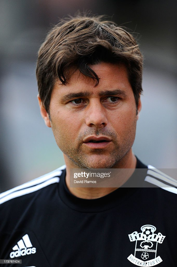 Manager Mauricio Pochettino of Southampton looks on during a friendly match between Southampton FC and UE Llagostera at the Josep Pla i Arbones Stadium on July 17, 2013 in Girona, Spain.