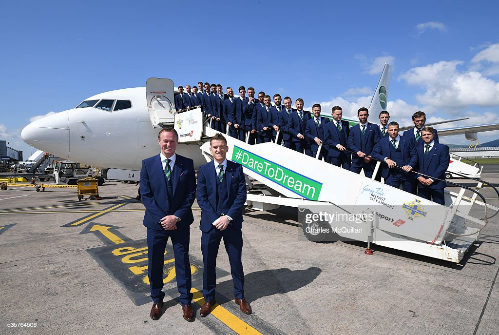 Northern Ireland Leave Belfast for Euro 2016