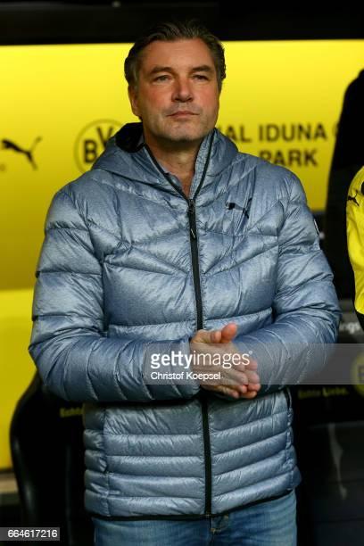 Manager Michael Zorc of Dortmund is seen during the Bundesliga match between Borussia Dortmund and Hamburger SV at Signal Iduna Park on April 4 2017...