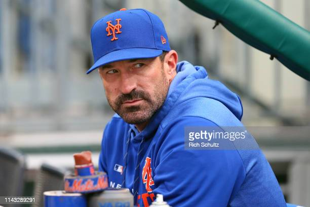 Manager Mickey Callaway of the New York Mets before a game against the Philadelphia Phillies at Citizens Bank Park on April 16 2019 in Philadelphia...