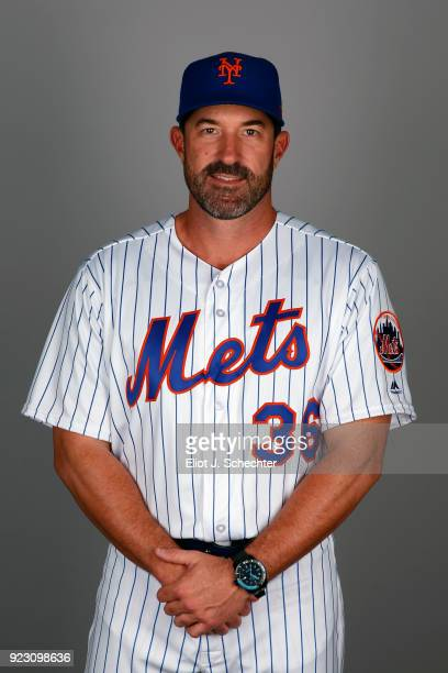 Manager Mickey Callaway of the New York Mets poses during Photo Day on Wednesday February 21 2017 at Tradition Field in Port St Lucie Florida