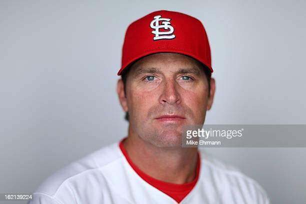 Manager Mike Matheny of the St Louis Cardinals poses during photo day at Roger Dean Stadium on February 19 2013 in Jupiter Florida