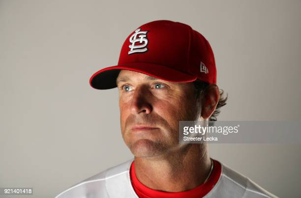 Manager Mike Matheny of the St Louis Cardinals poses for a portrait at Roger Dean Stadium on February 20 2018 in Jupiter Florida