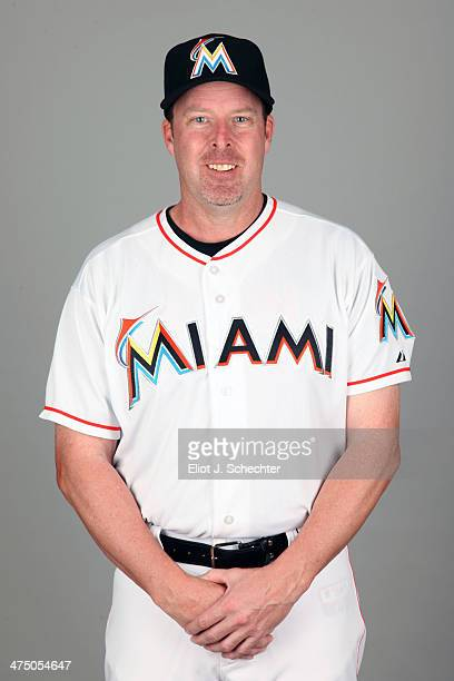 Manager Mike Redmond of the Miami Marlins poses during Photo Day on Tuesday February 25 2014 at Roger Dean Stadium in Jupiter Florida