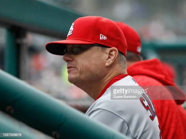Manager Mike Shildt of the St Louis Cardinals during a game against the Detroit Tigers at Comerica Park on September 9 2018 in Detroit Michigan