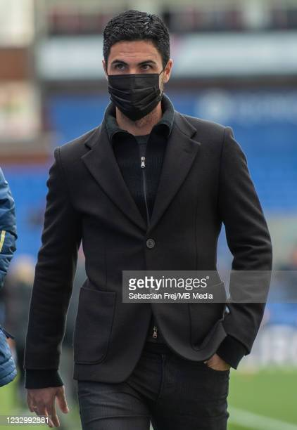 Manager Mikel Arteta of Arsenal during the Premier League match between Crystal Palace and Arsenal at Selhurst Park on May 19, 2021 in London, United...