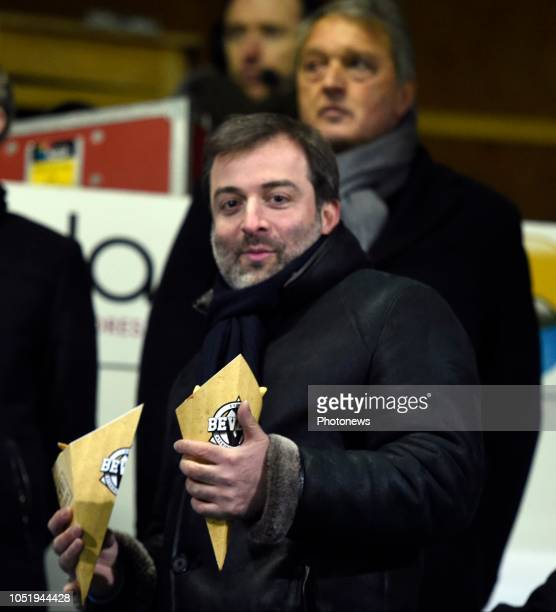 Manager Mogi Bayat eating belgian fries l pictured during Jupiler Pro League match between Westerlo and RSC Anderlecht on january 25, 2017 in...