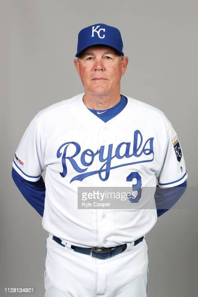 Manager Ned Yost of the Kansas City Royals poses during Photo Day on Thursday February 21 2019 at Surprise Stadium in Surprise Arizona