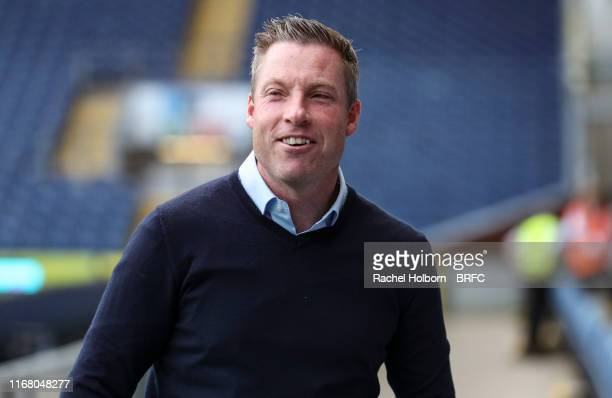 Manager Neil Harris of Millwall ahead of the Sky Bet Championship match between Blackburn Rovers and Millwall at Ewood Park on September 14 2019 in...
