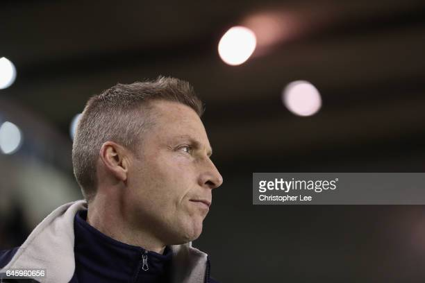 Manager Neil Harris of Millwall in action during the Sky Bet League One match between Millwall and Chesterfield at The New Den on February 21 2017 in...