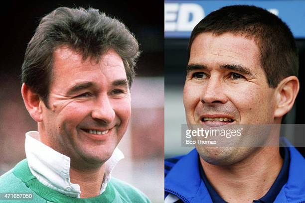 In this composite image a comparison has been made between images 79054422 and 89550761 of Father and Son IMAGE*** 1979 Portrait of Nottingham Forest...