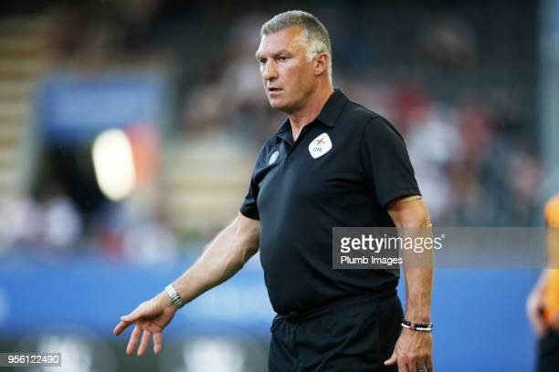 Manager Nigel Pearson of OH Leuven during the Belgian First Division A Europa League Playoff tie between OH Leuven and KV Kortrijk at Den Dreef...