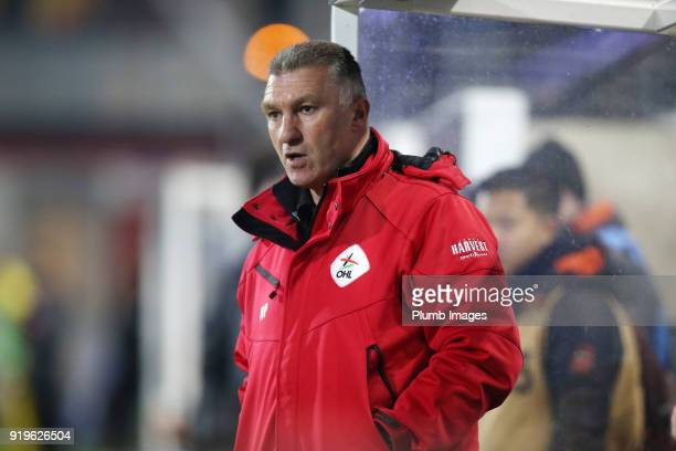 Manager Nigel Pearson of OudHeverlee Leuven during the Proximus League match between OudHeverlee Leuven and BeerschotWilrijk at Stadium Den Dreef on...