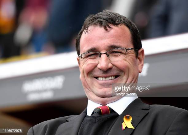 Manager of Bradford City Gary Bowyer looks on during the Sky Bet League One match between Bradford City and AFC Wimbledon at Northern Commercials...
