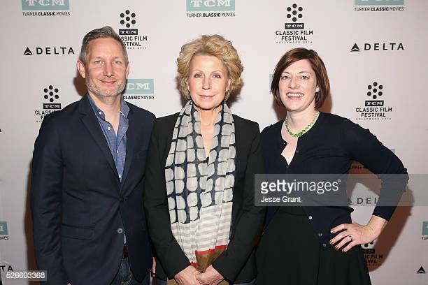 Manager of Brand Activation for TCM Mark Wynns journalist Mary Mapes and Managing Director of TCM Classic Film Festival Genevieve McGillicuddy attend...