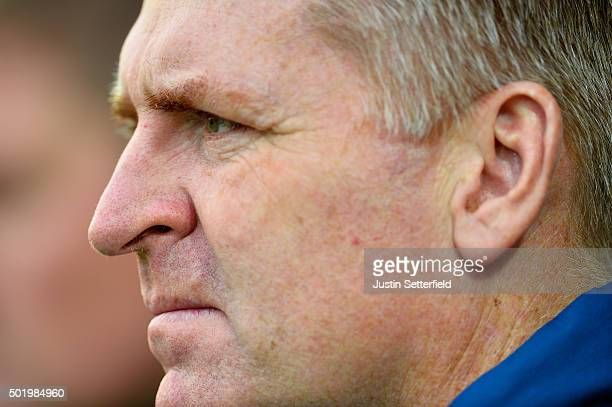 Manager of Brentford Dean Smith looks on during the Sky Bet Championship match between Brentford and Huddersfield Town at Griffin Park on December 19...