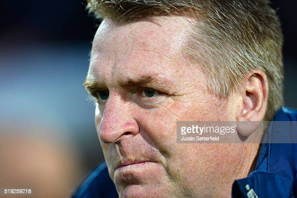 Manager of Brentford FC Dean Smith during the Sky Bet Championship match between Brentford and Bolton Wanderers on April 5 2016 in Brentford United...