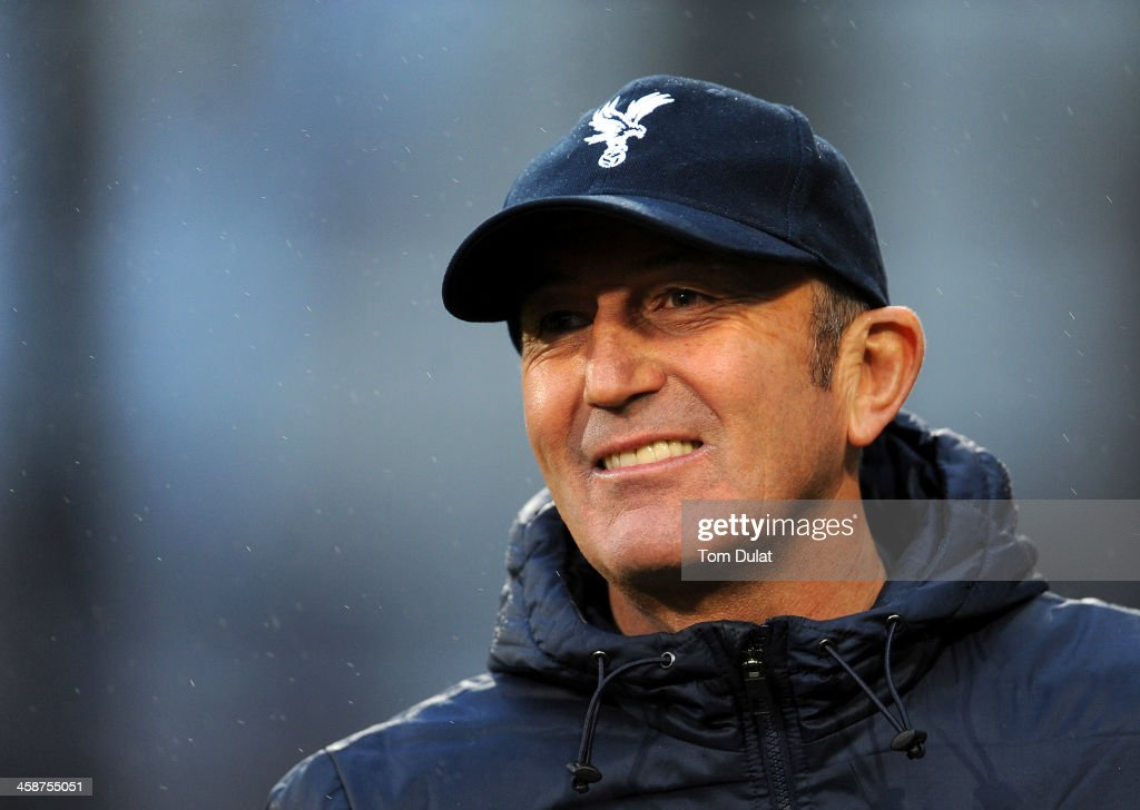 Manager of Crystal Palace Tony Pulis looks on during the Barclays Premier League match between Crystal Palace and Newcastle United at Selhurst Park on December 21, 2013 in London, England.