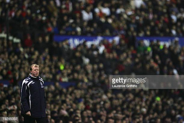 Manager of England Steve McClaren watches the action from the touchline during the International Friendly match between England and Spain at Old...