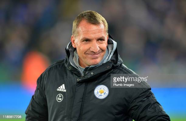 Manager of Leicester City Brendan Rodgers before the Premier League match between Leicester City and Everton FC at King Power Stadium on December 1st...