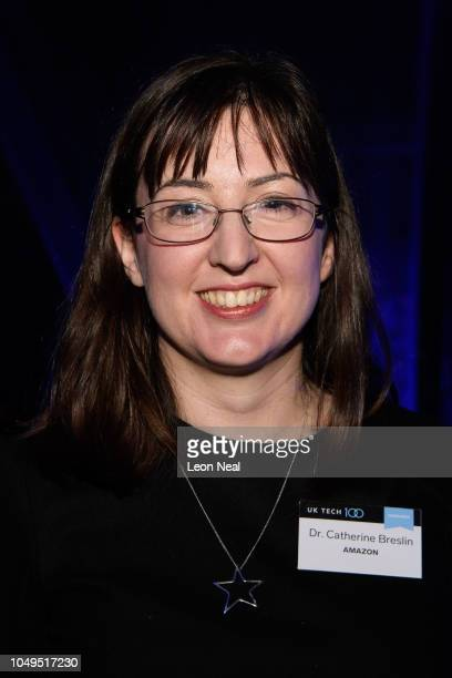 Manager of Machine Learning at Amazon Alexa Dr Catherine Breslin poses for a photograph during Business Insider's UK Tech 100 reception on October 04...