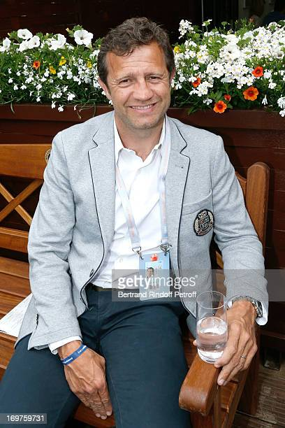 Manager of Montpellier Rugby team Fabien Galthie attends Roland Garros Tennis French Open 2013 Day 7 on June 1 2013 in Paris France