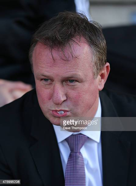 Manager of Northern Ireland Michael O'Neill during the International friendly match between Northern Ireland and Qatar at The Alexandra Stadium on...