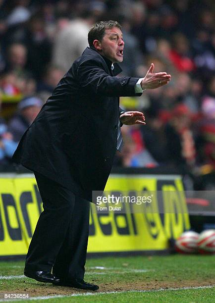 Manager of Nottingham Forest Billy Davies gives instructions during the Coca Cola Championship match between Charlton Athletic and Nottingham Forest...