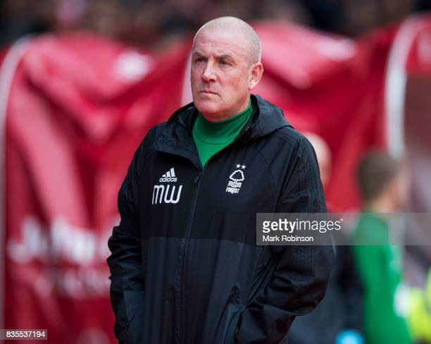 Manager of Nottingham Forest Mark Warburton during the Sky Bet Championship match between Nottingham Forest and Middlesbrough at City Ground on...