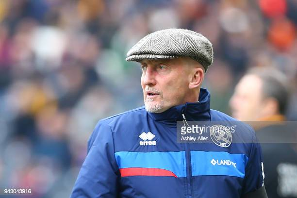 Manager of Queens Park Rangers Ian Holloway during the Sky Bet Championship match between Hull City and Queens Park Rangers at KCOM Stadium on April...