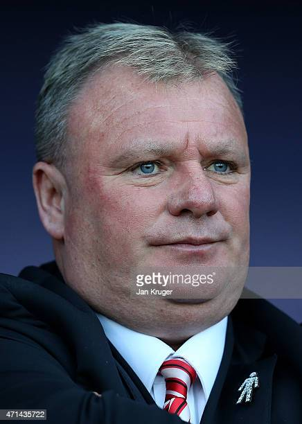 Manager of Rotherham United Steve Evans looks on during the Sky Bet Championship match between Rotherham United and Reading at The New York Stadium...