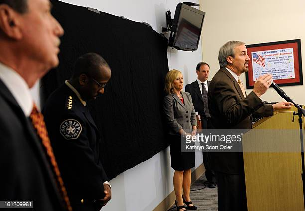 Manager of Safety Charles Garcia announces at a press conference from inside the Van CiseSimonet Detention Center center that no discipline would be...