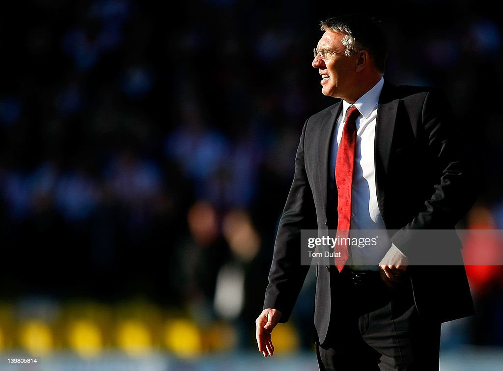 Manager of Southampton Nigel Adkins looks on during the npower Championship match between Watford and Southampton at Vicarage Road on February 25, 2012 in Watford, England.
